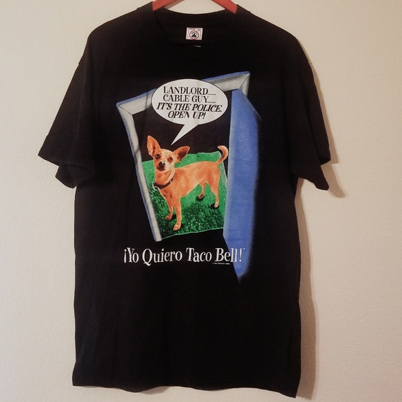 06763d01 Vintage Tops | Taco Bell Chihuahua Shirt Size Large | Poshmark
